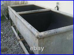 Vintage 1950's Galvanised Lovely Large Garden Planter/exterior Double Sink Unit