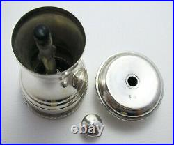Vintage 1980 Solid Sterling Silver Pepper Grinder Shaker Mill English Classic