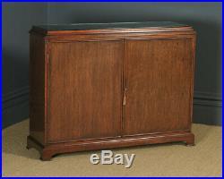Vintage 20th Century Georgian Style Teak Hall Shoe Cupboard Storage Side Cabinet