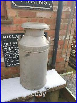 Vintage Alloy Milk Churn United dairies 1957 midland counties B'Ham & W ton