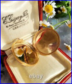 Vintage Antique 15ct Yellow Gold Circular Hand Engraved English Locket 9.5g