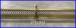 Vintage Antique Brass Fireplace Grill Style Design Fender (Size in Description)