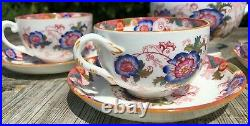 Vintage Antique Coalport English China Tea Set And Milk Jug With Flower Design
