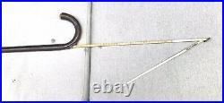 Vintage Antique English JH Silver Gadget Horse Measuring Walking Stick Cane Old