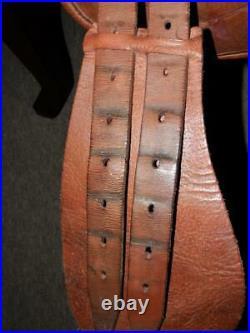 Vintage/Antique English Leather Pony Piltch Pad Saddle