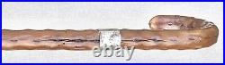 Vintage Antique English Sterling Silver Fat Irish Blackthorn Walking Stick Cane