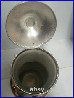 Vintage Antique English Teapot Silver On Copper Vintage Rare Flower Decorated
