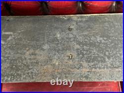 Vintage Antique Heavy Brass & Black Fireplace Hearth Surround Curb Hearth Fender