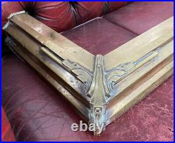 Vintage Antique Heavy Brass Copper Fireplace Hearth Surround Curb Hearth Fender
