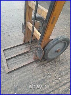 Vintage Antique Slingsby Wooden Railway Platform Trolley Sack Barrow Truck