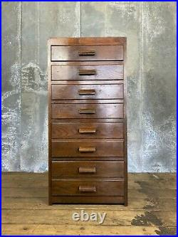 Vintage Antique Wooden Chest of Drawers Cabinet Tallboy Tall boy