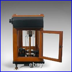 Vintage Balance, English, Mahogany, Scientific Scales, Stanton Instruments, 1960