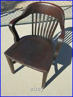 Vintage Bank or Court House England Style B. L. Marble Chair Company Chair #8109