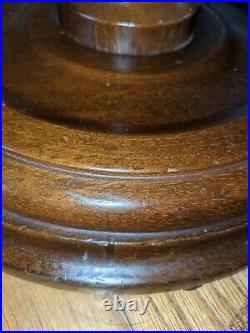 Vintage Barley Twist Floor Lamp Spiral Oak Solid Wood Electric English NO SHADE