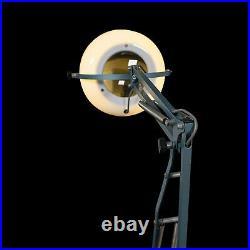 Vintage Bench Magnifier Lamp, English, Industrial, Light, Desk, Circa 1960