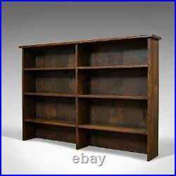 Vintage Book Shelf, English, Oak, Library, Bookcase, Display Cabinet, Circa 1960