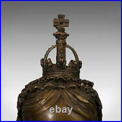 Vintage Bust, Queen Victoria, English, Bronze, Royal Portrait, Monarch, Empress