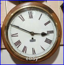 Vintage Circular Office/ Post Office Fusee 8 Day Wall Clock