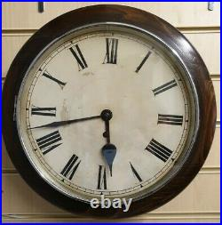 Vintage Circular Office/ Post Office Perivale 8 Day Wall Clock