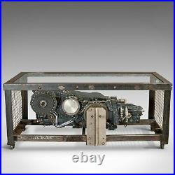 Vintage Coffee Table, English, Industrial Taste, RAF Tornado, Aviation Gearbox