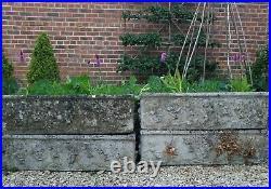 Vintage, Composite Stone, Weathered Garden Planters