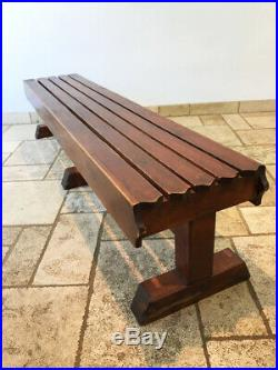 Vintage Double Sided Sports School Pine Wooden Gym Bench 7FT