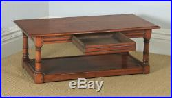 Vintage English 18th Century Style Solid Cherry Wood Rectangular Coffee Table