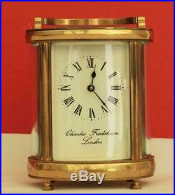 Vintage English Charles Frodsham 8 Day Oval Carriage Clock