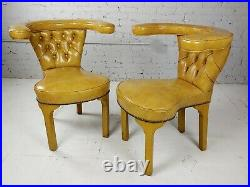 Vintage English Cock Fighting Armchairs in the Georgian Manner-a Pair