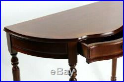 Vintage English Mahogany Demi Lune Console Table FREE Shipping 5737