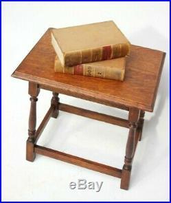 Vintage English Oak Joint Stool FREE Shipping 5979