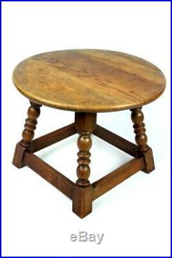 Vintage English Oak Side Table FREE Shipping 5259