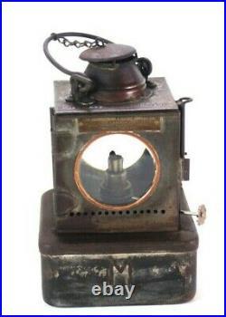 Vintage English Railway Paraffin Lamp Welch Patent 6414