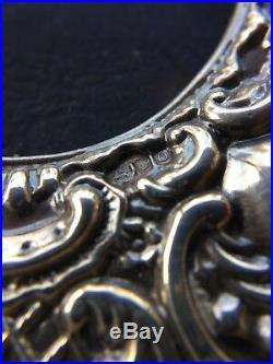 Vintage English Repousse Sterling Silver Keyford Frames Picture Frame Hallmark