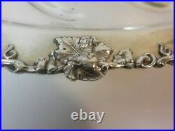 Vintage English Silver Plate 19 Serving Tray, Embossed Border, Meat Well
