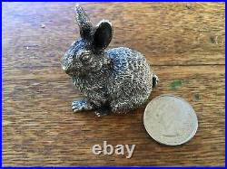 Vintage English Sterling Silver Rabbit London by FM 1.2 oz