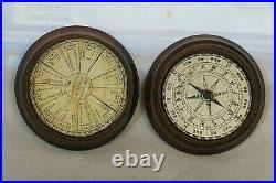 Vintage English Turned Wood Sundial