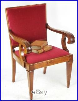 Vintage English Walnut Carver Armchair FREE Shipping PL4273