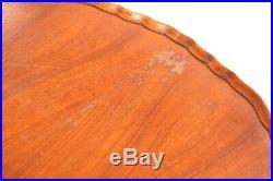 Vintage English Walnut Demi Lune Console Table 5409
