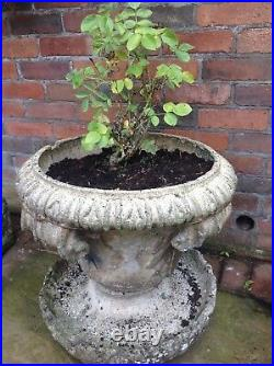 Vintage English stone urn