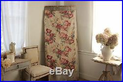 Vintage Fabric French large scale floral pattern English Cottage look cotton