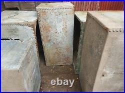 Vintage Galvanised Steel Riveted Water Tank Large, project table industrial x3