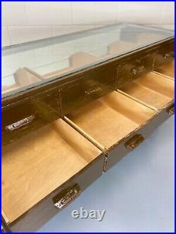 Vintage Haberdashery Counter Drawers Mid Century English Haberdashery Cabinet
