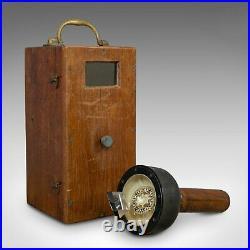 Vintage, Handheld Bearing Compass, English, Oak, Maritime, Navigation, Sestrel