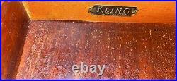Vintage Kilng Night Stand Solid Mahogany 18th Century English Style 805 USA