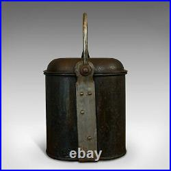 Vintage Navy Rum Kettle, English, Steel, Mess Fanny, Sellman and Hill, C. 1950