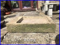 Vintage / Original Stone Sink / Garden Feature