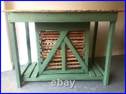 Vintage Pine English Gardeners Potting Table With Drawers Lovely Kitchen Island