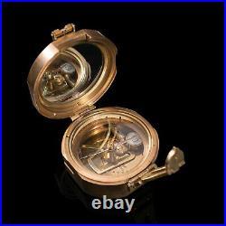 Vintage Pocket Compass, English, Terrestrial, Maritime, Navigation, Instrument