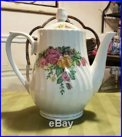 Vintage Regent China English Rose Tea Set & 4 Dessert plates not made in CHINA